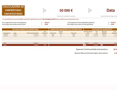 Simulador de empréstimo universitário
