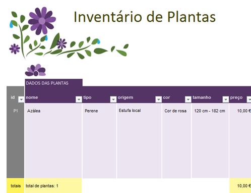 Planejador de jardim