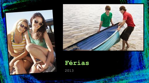 Álbum de fotos de férias (design de giz)