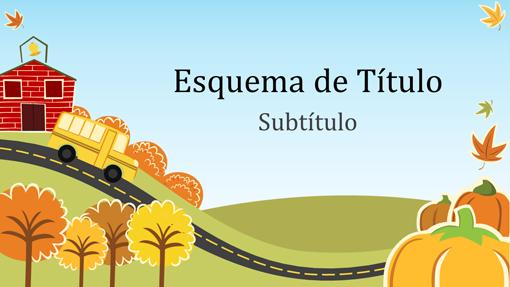 Apresentação educacional divertida de outono (widescreen)