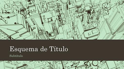 Tela de fundo da apresentação de esboço da cidade de escritórios comerciais (widescreen)