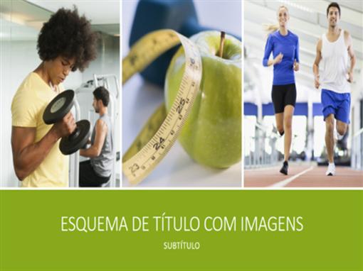Apresentação de saúde e fitness (widescreen)