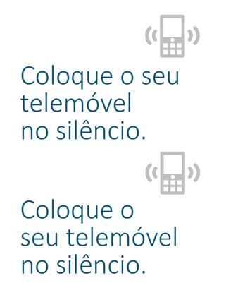 Cartaz de lembrete para desligar os telemóveis