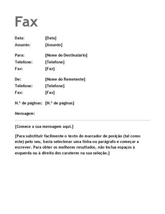 Capa de fax