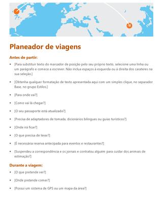 Planejador de viagens