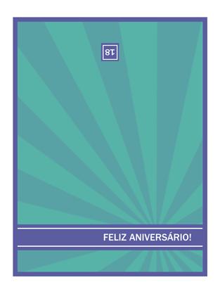 Cartão de marco de aniversário (raios azuis)