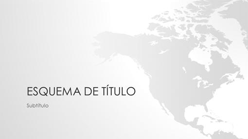 Série de mapas do mundo, apresentação da América do Norte (ecrã panorâmico)