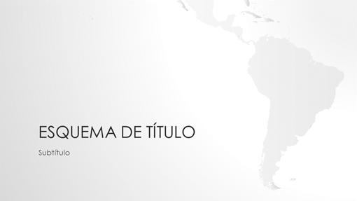 Série de mapas do mundo, apresentação da América do Sul (ecrã panorâmico)