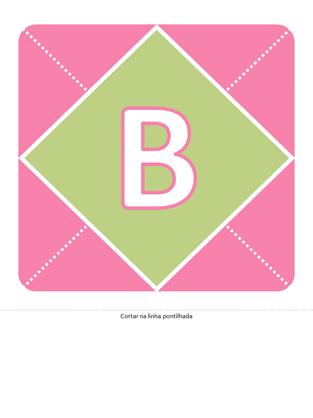 Faixa de boas-vindas à Bebé (cor de rosa, roxo, verde)