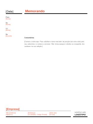 Memorando empresarial (design Vermelho e Preto)