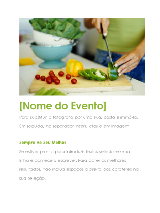 Panfleto do evento