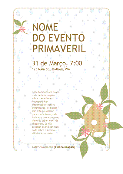 Panfleto para evento primaveril