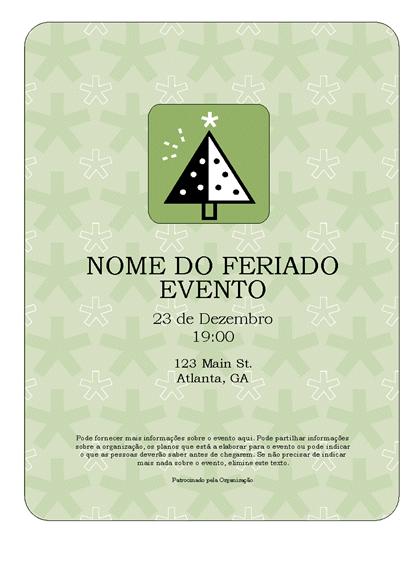 Panfleto de evento - Feriado (com pinheiro)