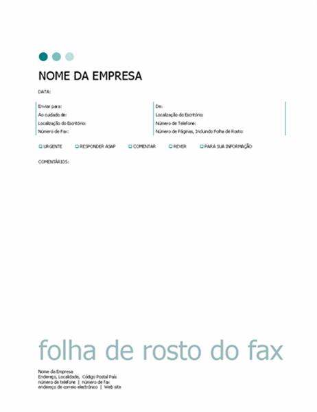 Página de rosto de fax (tema Pontos)