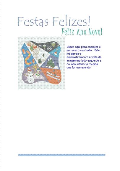 Papel de carta (com cenário de desportos de neve)