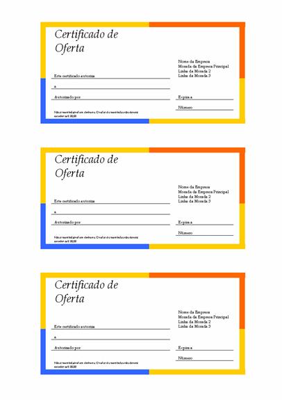 Vale de oferta (limite multicolorido, a partir de 3)