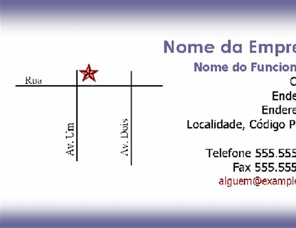 Cartão de visita com mapa