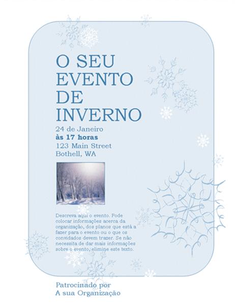 Panfleto de eventos de Inverno