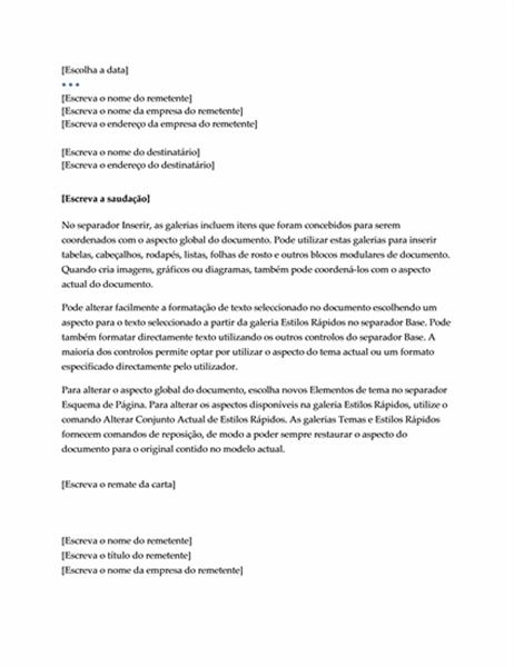 Carta (Design Executivo)