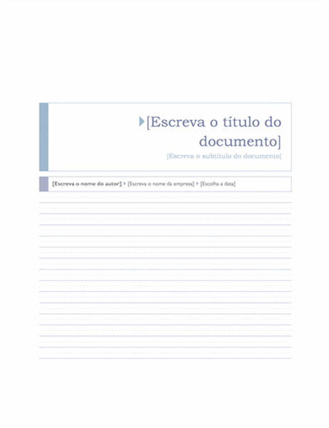 Relatório (Tema Origem)