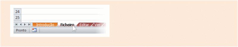Excel 2010: Livro de referência do menu para o friso