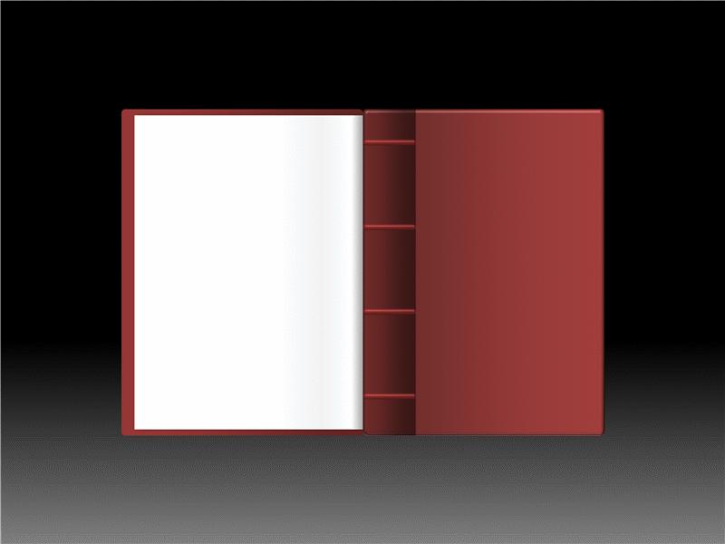 Animação de efeito de livro a abrir
