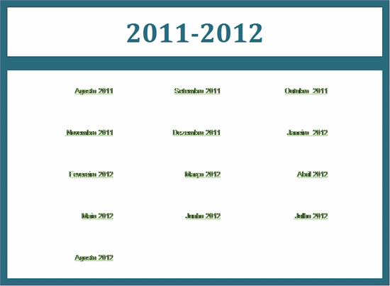 Calendário académico 2011-2012 (seg-dom)