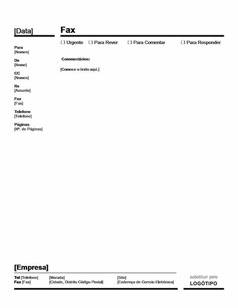 Folha de Rosto de Fax Profissional (Vermelho e Preto)