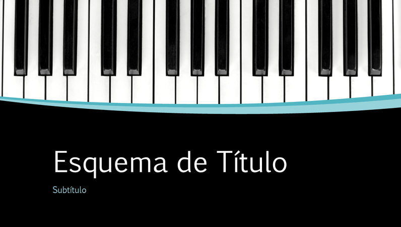 Apresentação com curvas musicais (ecrã panorâmico)