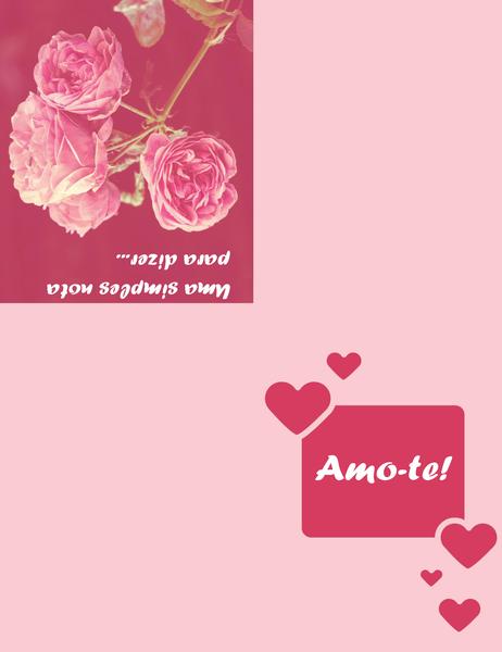 Cartão de Romance (dobrável em quatro)