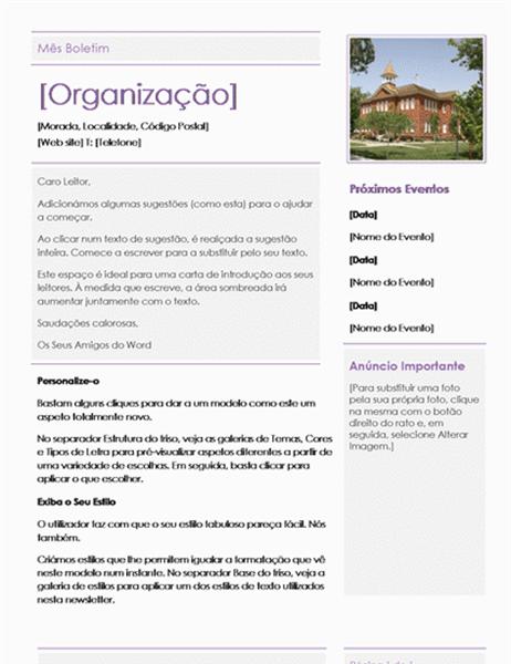 Newsletter de Escola Primária