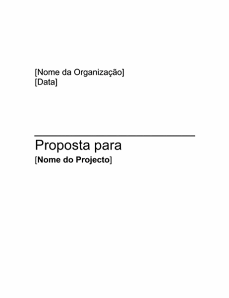 Proposta de Projecto de Recolha de Fundos