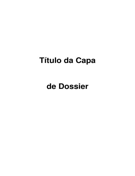 Capa de dossier