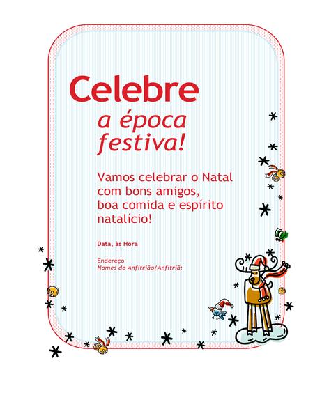 Convite de festa de época festiva