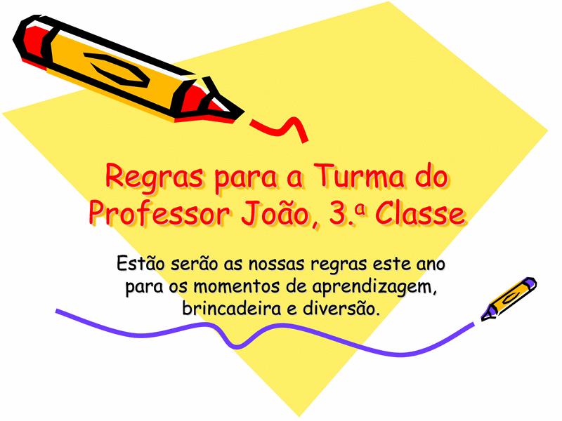 Regras da Classe do 3.º Ano
