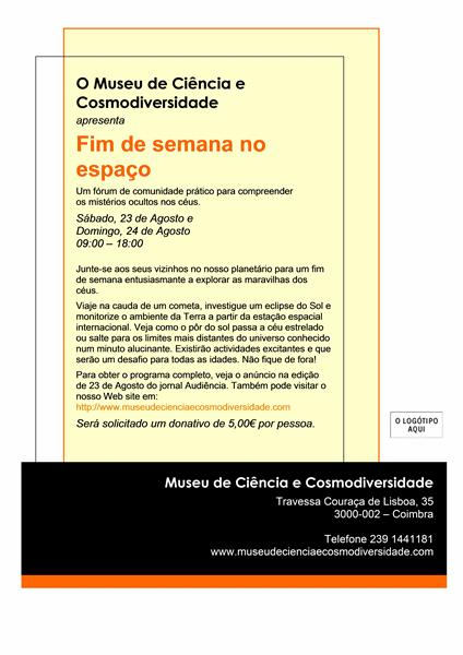 Panfleto de evento (8,5x11, um lado)