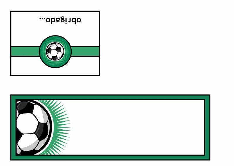 Cartão de agradecimento (com bola de futebol)
