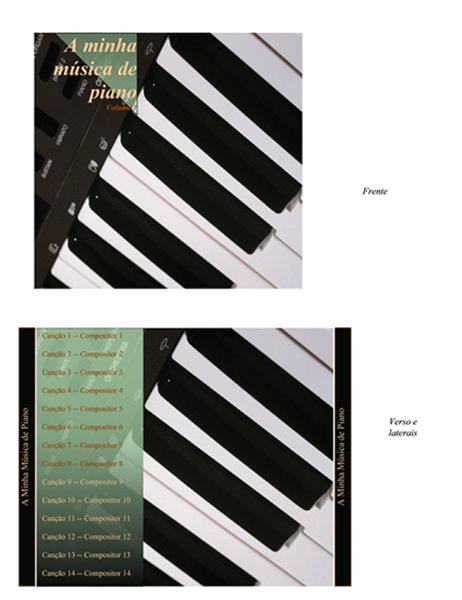 Capa interior de CD (modelo de música de piano)