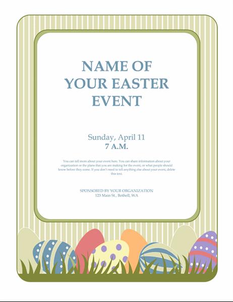 Panfleto para evento da Páscoa (com ovos)