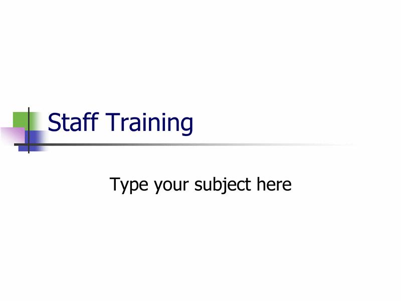 Apresentação da formação do pessoal