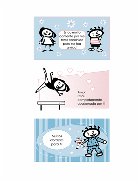Crie os seus próprios cartões de dia dos namorados para crianças (4 páginas de design de cartões e 1 página de verso universal)
