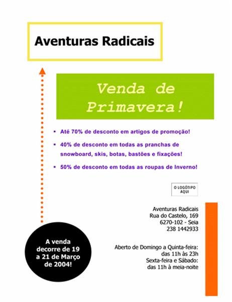 Panfleto de venda comercial (8,5x11)