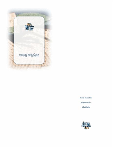 Cartão da Páscoa Hebraica (com pão matzo)