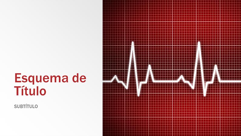 Apresentação com design de medicina (ecrã panorâmico)