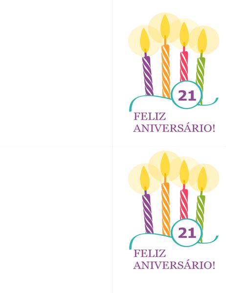 Cartões de aniversário importante (2 por página, compatível com o modelo Avery 8315)