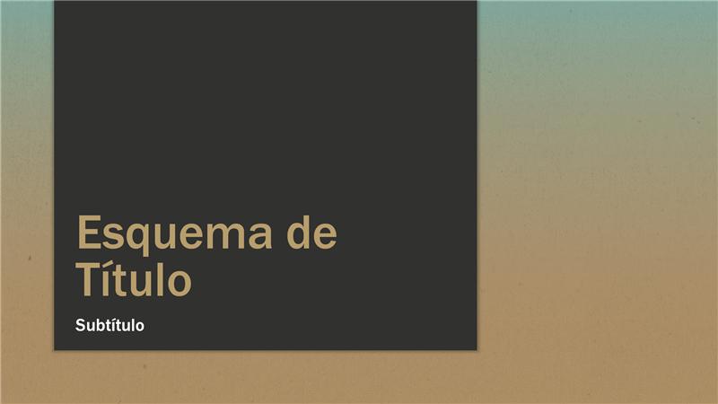 Apresentação com gradação de azul e castanho-claro (ecrã panorâmico)