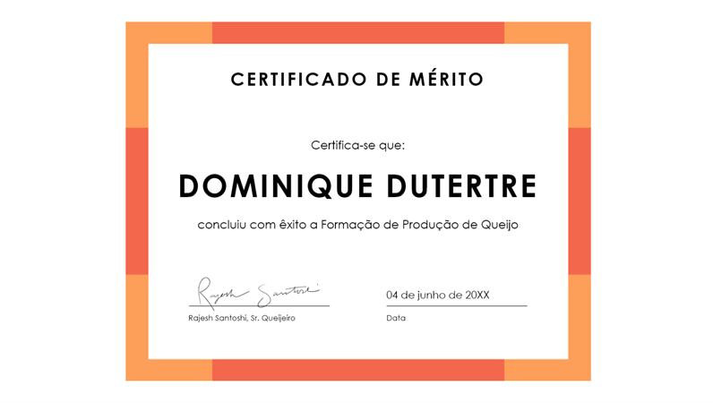 Certificado de Mérito (azul)