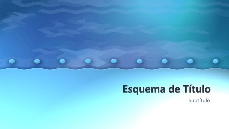 Diapositivos com o design Mirtilo