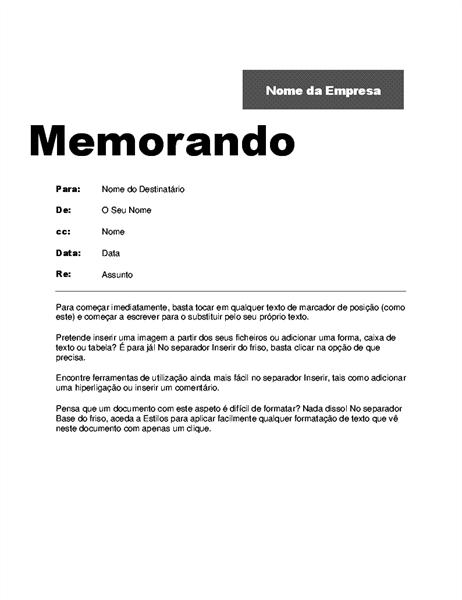 Memorando Entre Empresas (Design profissional)