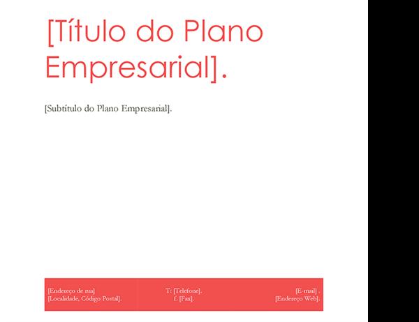 Plano de Negócios (design Vermelho)
